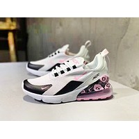 NIKE AIR Max 270 Fashion New Hook Print Women Men Running Sports Leisure Mesh Shoes