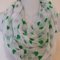 Glitter Shamrock Infinity Scarf St Patricks Day Scarf St Pattys Day Scarf Saint Patricks Day Circle Scarf Clover Eternity Loop Holiday Scarf