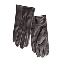 Merona Mens Brown Leather Gloves With Fleece Lining