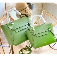 Onewel Celine belt bag catfish bag Fresh Color Handbag Bag Crossbody Bag Green-1