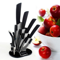 Kitchen Ceramic Knife and Peeler with Holder