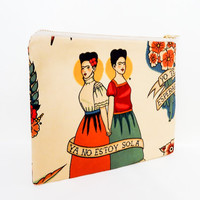Zipper Pouch, Fabric Pouch, Frida Kahlo Pouch, Coin Purse, Change Pouch, Pouch, Gift for Her, Gift Under 20, Frida Kahlo Ya No Estoy Sola