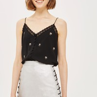 Lace Up Side PU Skirt | Topshop