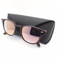 One-nice™ Ray Ban 4258 6231/1N Shiny Opal Brown Blue Pink Mirror Sunglasses New Authentic