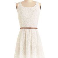 ModCloth Mid-length Tank top (2 thick straps) A-line Daydreaming at Daybreak Dress