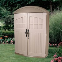 Tall Boy Outdoor Plastic Lawn Garden Tool Shed - 4FT X 2FT X 6FT High