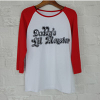 """""""Daddy's Lil Monster"""" 3/4 Sleeve T-Shirt B0014257"""