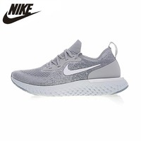 Nike Epic React Flyknit Women Running Shoes Gray Sneakers Sport Outdoor Breathable AQ0070-600