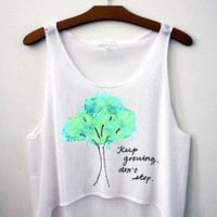 Keep Growing. Don't Stop. Crop Top - Hipster Tops