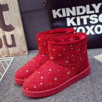 Winter boots snow boots warm winter boots thick boots Women 's cotton shoes women