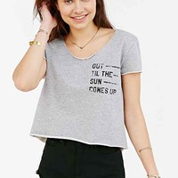 BDG Out Til The Sun Cropped Tee- Grey