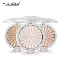 Miss Rose Glow Kit Highlighter Makeup Shimmer Powder Highlighter Palette Base Illuminator Highlight Face Contour Golden Bronzer