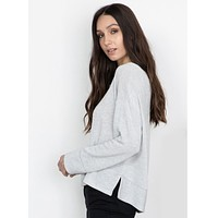 Nova Long Sleeve Top Heather Grey