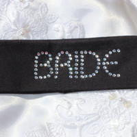 Rhinestone bride headband,  bridesmaid headband,  2 inch cotton headband,  gift for her,  bridal accessory,  TEAM BRIDE gear