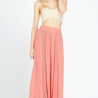Under the Sun Crochet Maxi Skirt