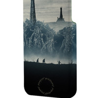 Best 3D Full Wrap Phone Case - Hard (PC) Cover with The Lord of The Rings Tower Design