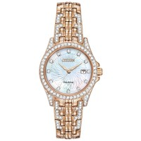 Ladies' Citizen Eco-Drive Silhouette Rose Gold-Tone Watch