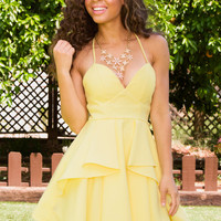 Gala Dress - Yellow