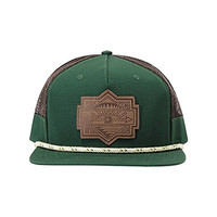 Hippy Tree Plateau Snapback Hat Forest, One Size