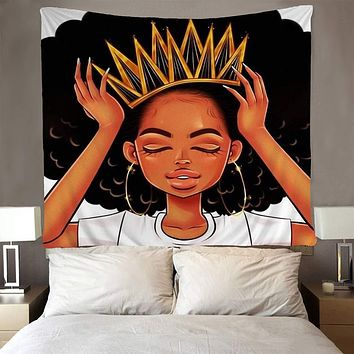 Afro Queen Wall Tapestry