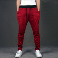 Red Mens Comfy Fitted Joggers