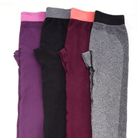 Women's Home Family Rest Clothing Out Of Fitness Breathable Gym Wear Yoga Capris Pants Trousers