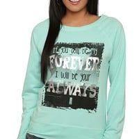 French Terry Raglan Top with Forever and Always Screen