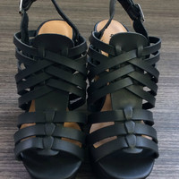 'Kelsey' Strappy Wedge