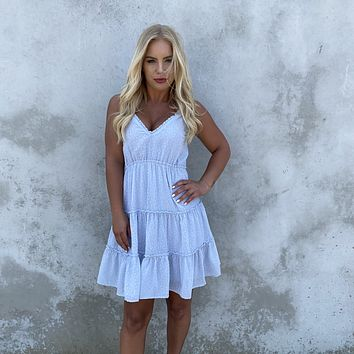 All Yours Baby Blue Shift Dress