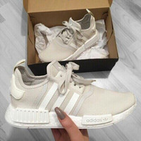 """Adidas"" Women Fashion Trending Running Sports NMD Shoes Beige"