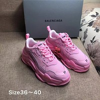 Pink Balenciaga Triple-S Sneaker Casual Shoes Clunky Sneakers