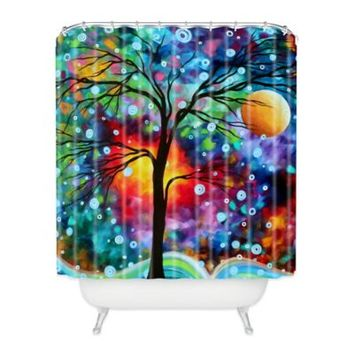 DENY Designs Madart Inc. A Moment in Time Shower Curtain in Blue