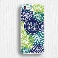 plastic rubber iphone 5s cases, green flower iphone 5c cases,monogram iphone 5 cases,soft iphone 4 cases,iphone 4s cases d124