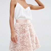ASOS Mini Prom Skirt with Rose Corsage at asos.com