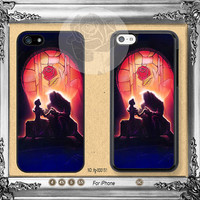 Disney Beauty and The Beast iPhone 5s case, iPhone 5C Case iPhone 5 case, iPhone 4 Case Disney iPhone case Phone case ifg-000151
