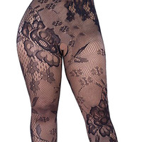 made2envy Crotchless Floral Fishnet Bodystocking PLUS SIZE