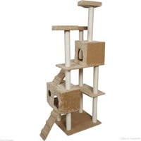 2017 73 Cat Tree Tower Condo Furniture Scratch Post Pet Home Bed Beige From Laogeng668, $59.29 | Dhgate.Com