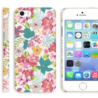 iPhone 5 retro floral case, Akna Retro Floral Series Vintage Flower Pattern Rubber Coating Back Case for iPhone 5 5S (Retro Pink Floral)(U.S)