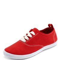 Canvas Lace-Up Sneaker: Charlotte Russe