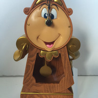 disney parks beauty and the beast cogsworth clock figure new with box