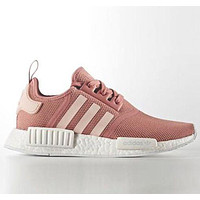 ADIDAS NMD men and women tide fashion casual sports running shoes F Pink