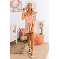 Love So Pure Spotted Romper (Peach)