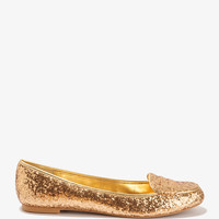 Glittered Penny Loafers