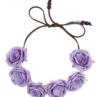 THE STASSI PERIWINKLE HALO. - HAIR ACCESSORIES - ACCESSORIES