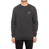 HUF - SMALL SCRIPT CREW SP15 // CHARCOAL HEATHER