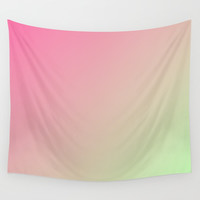 Two Tone Pink Wall Tapestry by kasseggs