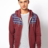 River Island Hoodie with Aztec Panel at asos.com