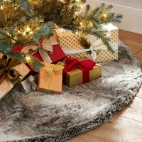 Faux Fur Tree Skirt - Gray Ombre