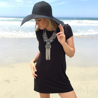 Small Town Jersey Dress In Black