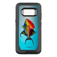 Psychedelic Colorful Triggerfish Fish Drawing OtterBox Defender Samsung Galaxy S8 Case